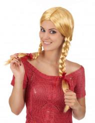 Peluca rubia colegiala mujer