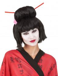 Peluca Geisha negra mujer