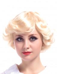 Peluca rubia vintage mujer