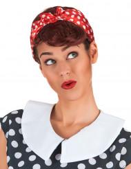 Peluca castaña Pin-up mujer