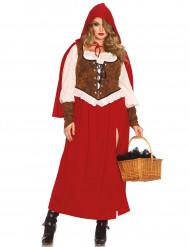 Disfraz Caperucita roja mujer talla grande con capa