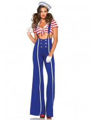 Disfraz marinero pantalón mujer