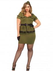 Disfraz militar mujer talla grande