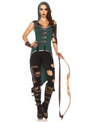 Disfraz de mujer de los bosques rebelde mujer