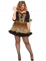 Disfraz gato sexy leopardo mujer talla grande