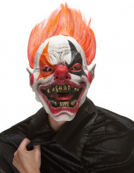 Máscara látex payaso infierno adulto Halloween