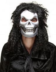 Máscara cráneo pelo adulto Halloween