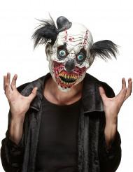 Máscara látex payaso sangriento adulto Halloween