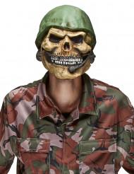 Máscara látex calavera soldado adulto Halloween