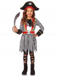 Disfraz pirata niña rayas