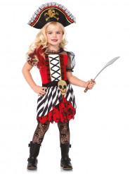 Disfraz pirata niña calavera dorada