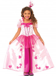 Disfraz princesa rosa para niña corazones