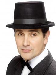 Sombrero de copa cinta negra adulto
