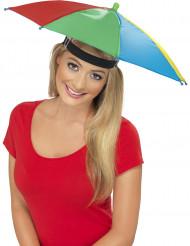Sombrero paraguas multicolor adulto