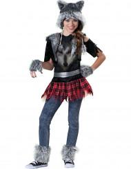 Disfraz lobo para niña - Premium