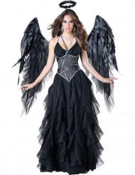 Disfraz ángel negro mujer Premium