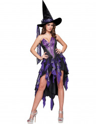 Disfraz de Bruja violeta para mujer -Premium