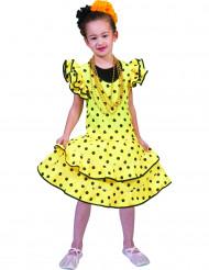 Disfraz flamenco amarillo con lunares niña