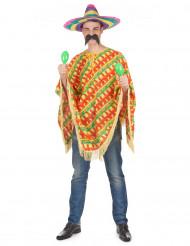 Poncho pimiento mejicano adulto
