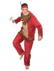 Disfraz de indio rojo hombre