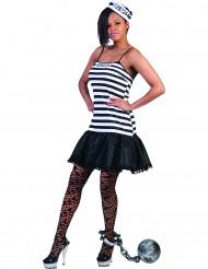 Disfraz vestido de prisionera mujer