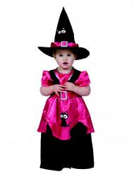 Disfraz de bruja rosa niña Halloween