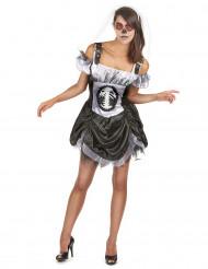 Disfraz Halloween esqueleto chic mujer