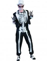 Disfraz esqueleto chic hombre Halloween