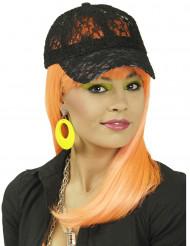 Gorra encaje negro mujer