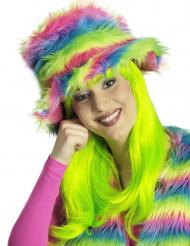 Sombrero peluche arcoíris