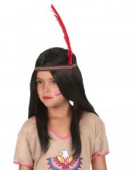 Peluca larga india niña
