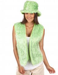 Chaleco peluche verde adulto