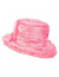 Sombrero peluche rosa adulto