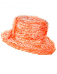 Sombrero peluche naranja adulto