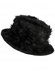 Sombrero peluche negro adulto