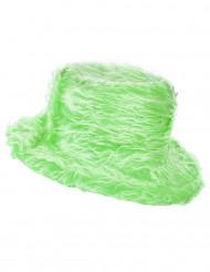 Sombrero peluche verde adulto