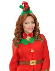 Kit diadema pajarita elfo Navidad