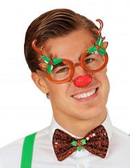 Gafas reno adulto Navidad