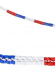 2 Guirnaldas papel tricolor Francia 3 m