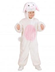 Disfraz de conejo blanco y rosa niño