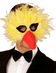 Máscara pájaro plumas amarillas adulto