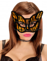 Antifaz tigre strass