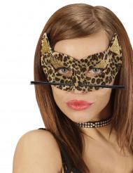 Antifaz de leopardo mujer