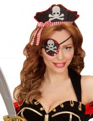Diadema y parche sexy pirata mujer