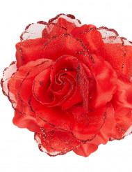 Rosa roja para el pelo mujer