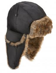 Sombrero de aviador con pelaje adulto