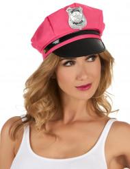Gorra policía rosa mujer