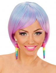 Pendientes conos multicolores mujer