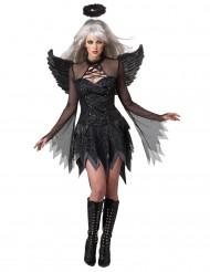 Disfraz Ángel Caído negro para mujer