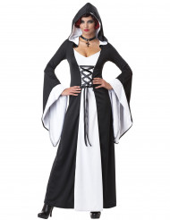 Disfraz Vestido con capucha medieval mujer